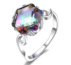 Мистик - топаз серебро 925 кольцо 18