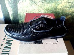Распродажа летние туфли Konors перфорация натуральная кожа мокасины