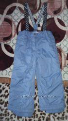 детские фирменные штаны на подтяжках