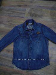 Джинсовая рубашка Zara, размер 104 см