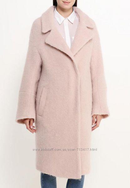 Скидка Lost ink пальто розово-пудренное, модный фасон оверсайз