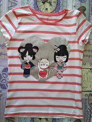 Красивая футболочка LC WALKIKI на 9-10 лет
