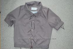 Фирменный стильный пиджак бежево-кофейной гаммы