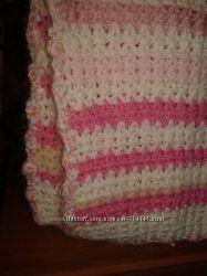 Плетеный плед в коляску