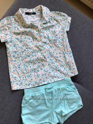 Фирменный костюм набор шорты рубашка на девочку 3-4 года