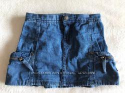 Модная DKNY джинсовая юбка юбочка на девочку 4-5 лет