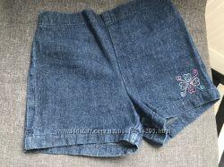 Джинсовые шорты на девочку 4 года 100 хлопок