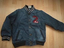 Утепленная джинсовая куртка Zara, р. 104