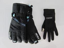 Перчатки женские лыжные Nevica 3in1, водонепроницаемые, в размерах