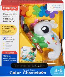 Интерактивная игрушка Умный Хамелеон сканер цвета FisherPrice Smart Stages