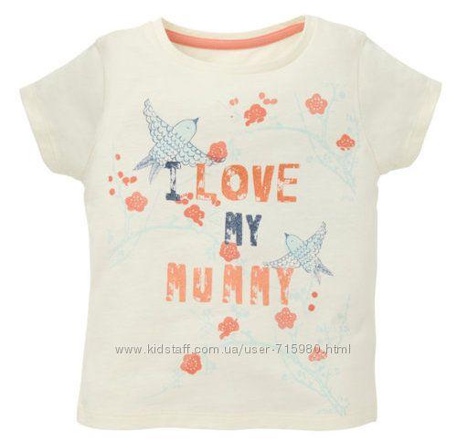 Футболка Mothercare с принтом I Love My Mummy, размер 3-4 года