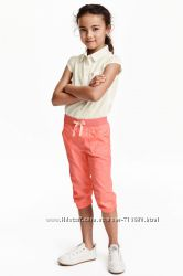 Яркие капри, бриджи H&M, размер 3-4 года