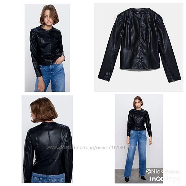 Куртка из искусственной кожи Zara - размер S