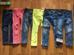 джинсы Next, H&M, Denim на 4-6 лет