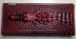 Шикарный кожаный кошелек с тиснением крокодила. Распродажа. Высокое качество