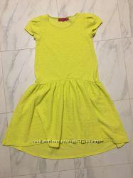 Платье С-ка 8, желтое, салатовое