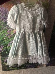 Костюм корновальный платье Мальвины снежинки снегурочки 4-6 лет