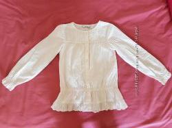 Блуза 8-9 лет, 128-135 см George молочная