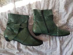 Ботинки кожа демисезонные, 39 размер, 25, 5 см по стельке, зеленые