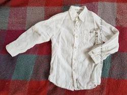 Рубашка 5-6 лет 110 см, фирма- Palomino, лен лето
