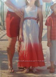 Сарафан летний 7 лет 122 см, хлопок длинный