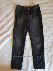 Джинсы черные 6-7 лет 116-122 см 100 хлопок