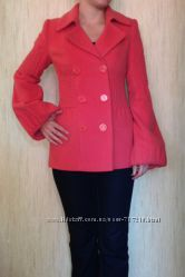 Пальто кораллового цвета Risso Италия раз. S-M