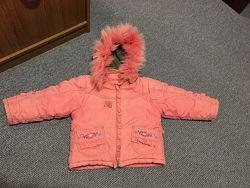 Зимняя курточка, куртка от 2 до 4 лет с мехом холофайбер