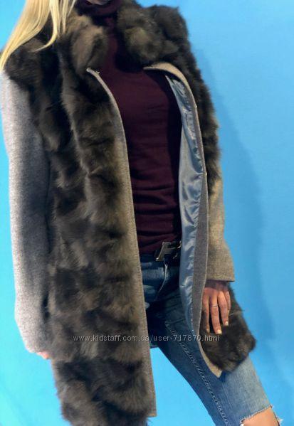 Соболь. элитная шуба, пальто из соболя. Новое