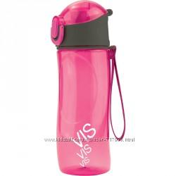 Бутылочка для воды Kite Время и Стекло VIS19-400-02 530 мл розовая