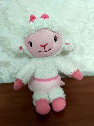 Мягкя игрушка овечка Лемми из мф доктор Плюшева.