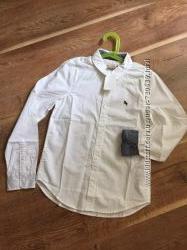 H&M рубашка белая хлопок104 110 116 122 128 134 в наличии
