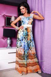 Длинное платье в пол, Летний сарафан - Размер 42-44-46