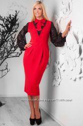 Коктейльное Платье Бруна. Классическое офисное платье приталенного силуэт