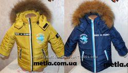 Зимний комбинезон и куртка для мальчика 28, 30, 32, 34размер натуральная оп