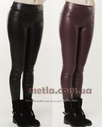 b2a74884febc0 Стильные кожаные женские лосины с карманами - Размеры с 42 по 50 ...