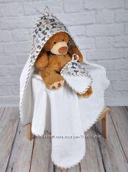 Полотенца с капюшоном для малышей.