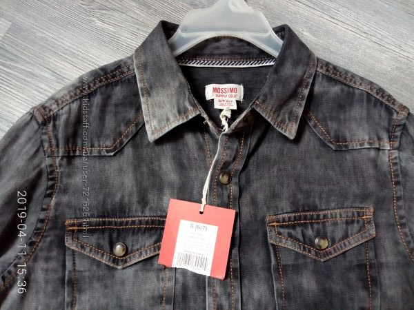 джинсовая фирменная рубашечка