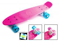 Пенни борд скейтборд цвета разные колеса любого цвета Светящиеся колеса