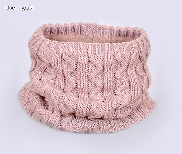 Зимний шарф-хомут Зиг-заг