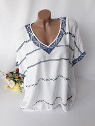 Блузка блузон с вышивкой вышиванка