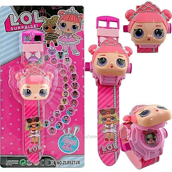 Проэкционные наручные часы кукла LOL, Бетмен детские, цифровые