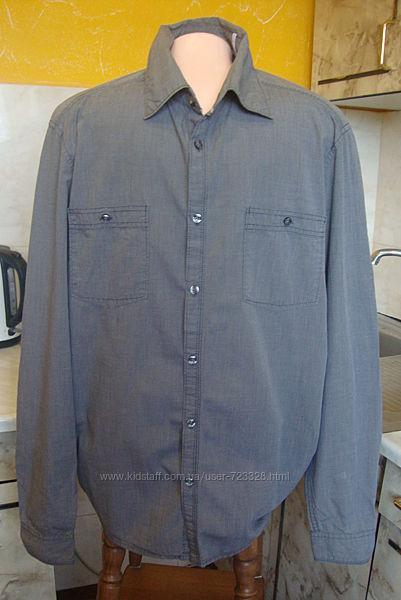 рубашка серая Esprit SМ 100котон