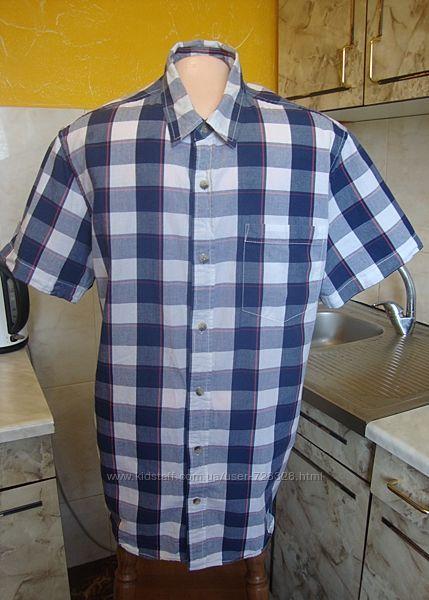 рубашка сине-белая клетка Cedar Wood State МL 100котон