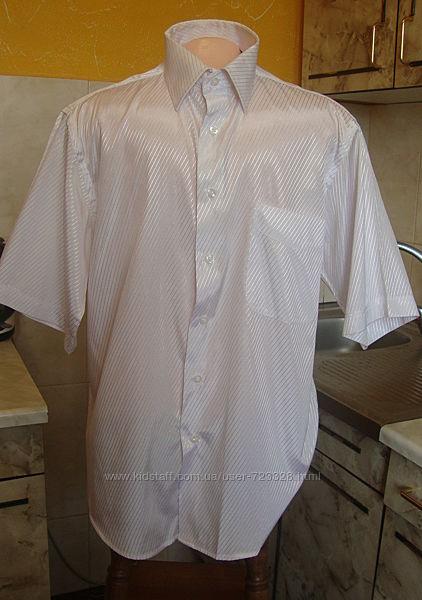рубашка белая с блестящей полоской Ferrero Gizzi M 39-40