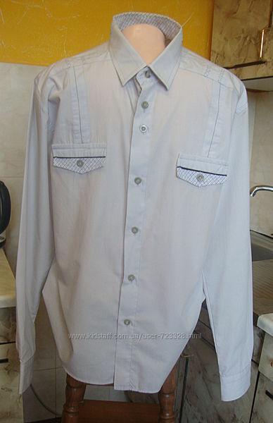 рубашка нежно-серая Ribery LXL 4344 70котон, 30полиэстер