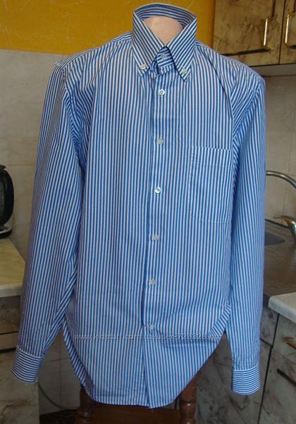 рубашка голубо-белая Bagutta 41/16 L/XL 100котон