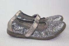 нарядные балетки серебро. р35-36.