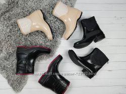 cb16a3a21 резиновые полусапожки ботинки утеплены флисовым чулком на холода ...