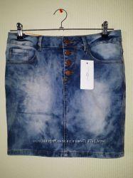 Юбка джинсовая new look, размер м 38